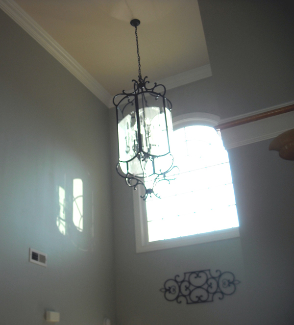 Paint two story foyer images for 2 story foyer chandelier
